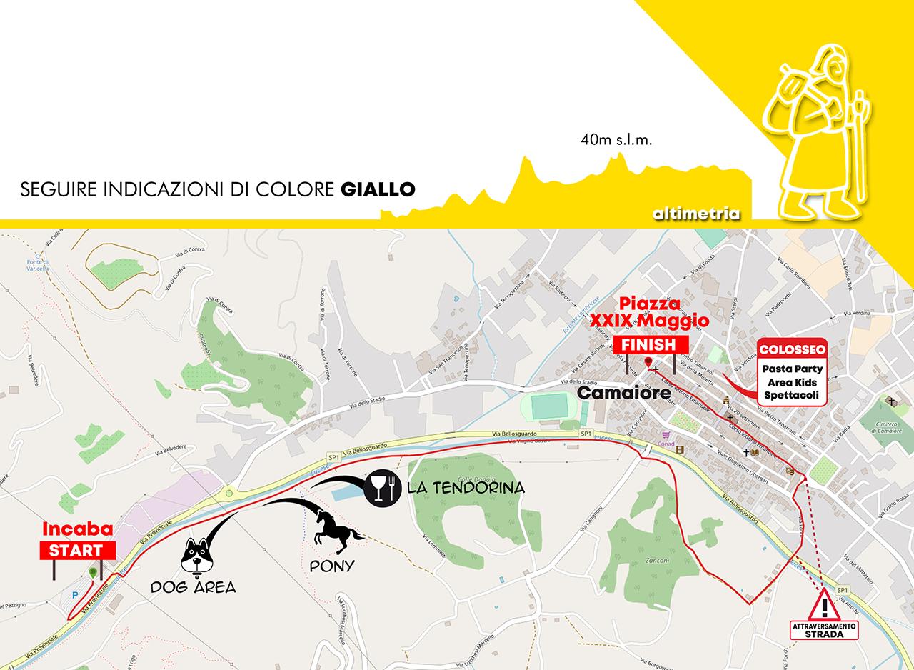 Mappa percorso breve 4km